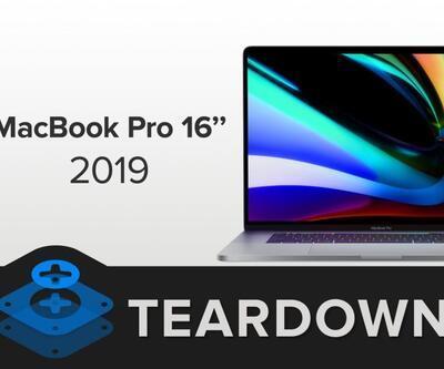 MacBook Pro 16 inç parçalarına ayrıldı