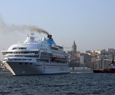 550 yolculu kruvaziyer gemisi İstanbul'da
