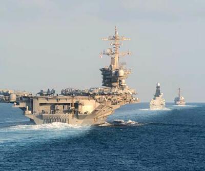 Dünyayı endişelendiren kareler: Uçak gemisi göründü