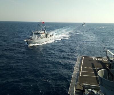 Bakanlık görüntüleri paylaştı! 15 ülkeden 48 gemi katıldı