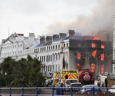 İngiltere'de otelde korkutan yangın