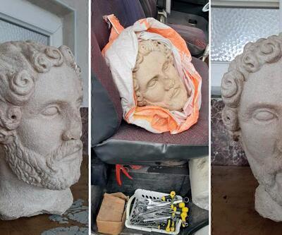 Tarihi heykel başı ele geçirildi