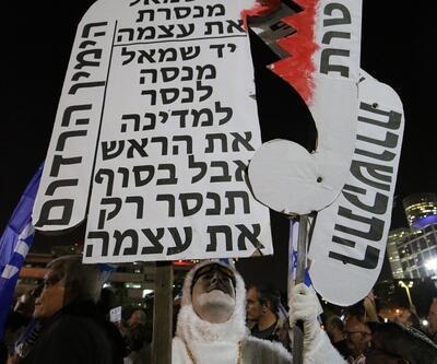 Tel Aviv'deNetanyahu'ya destek gösterisi