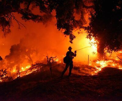 Kaliforniya'da yangın kent merkezine ulaştı