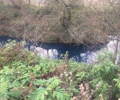Çayın rengi maviye döndü; fabrika atıklarından kirlendiği iddia edildi
