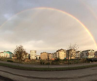 Yağmur sonrası muhteşem görüntü