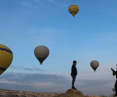 Kapadokya'da balon turlarına yoğun ilgi