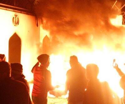Necef'teki İran Başkonsolosluğu yeniden ateşe verildi
