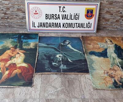 Bursa'da tarihi eser niteliğinde olduğu değerlendirilen tablolar ele geçirildi