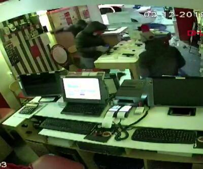 27 saniyede hırsızlık kamerada