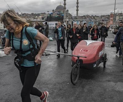 İngiltere'den İstanbul'a yardım için yürüdü