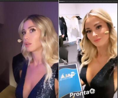 Diletta Leotta gala gecesine damga vurdu