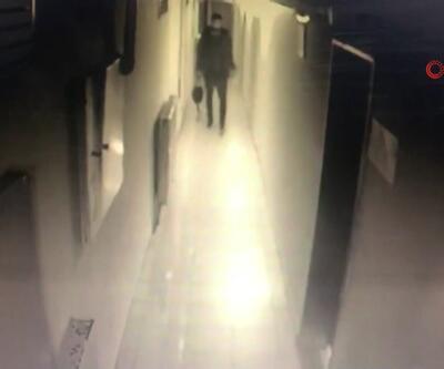 Hırsızlık yapan şahıs kamerada
