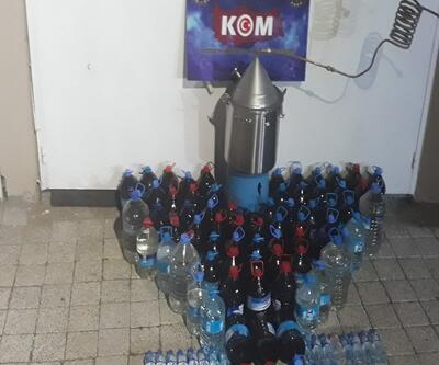 Köy evine sahte içki operasyonu