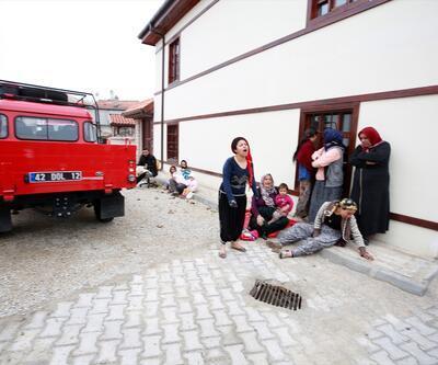 Konya'da 2 katlı kerpiç ev çöktü: Babaanne ve 2 torunu öldü