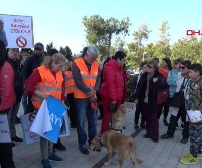 Antalya'da sokak hayvanları için eylem
