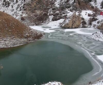 Göletler buz tuttu