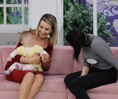 Canlı yayında bebeğine kavuştu