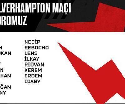 Beşiktaş'ın Wolverhampton kadrosu belli oldu