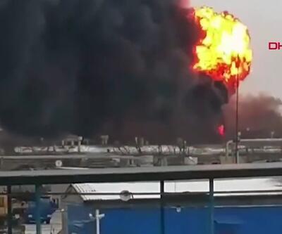 Rusya'da boya fabrikasında büyük yangın
