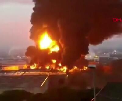 Son dakika... Barcelona'da büyük fabrika yangını