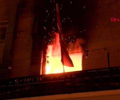 Kadıköy'de yangın paniği