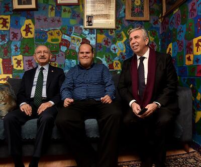 Kılıçdaroğlu'ndan engelli ressam Yalçın'a ziyaret