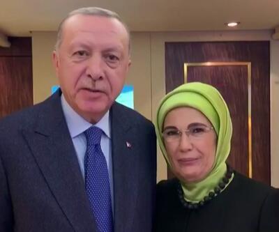 Erdoğan çiftinden görüntülü mesaj