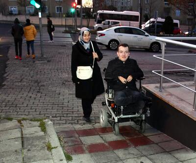 Bedensel engelli Okan'ın azim dolu hikayesi