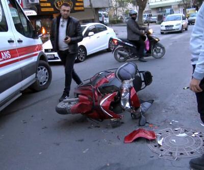 Minibüs ile motosiklet kaza yaptı