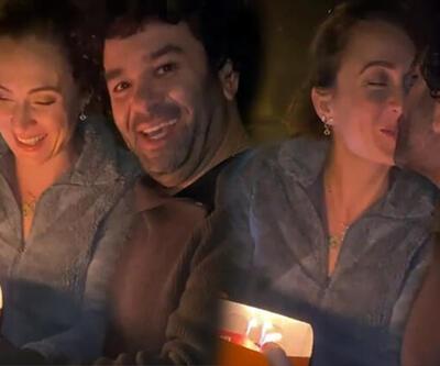 Ceyda Düvenci ve eşi Bülent Şakrak'tan otobanda evlilik yıl dönümü kutlaması!