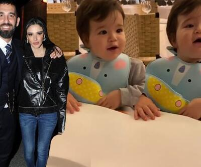 Arda Turan'ın oğlu Hamza Arda'nın pizza aşkı