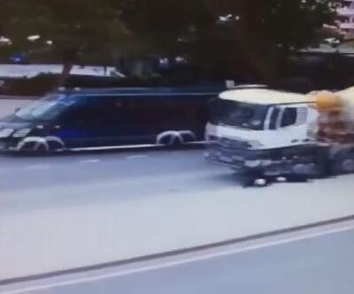 İki kardeşin hayatını kaybettiği feci kaza kamerada