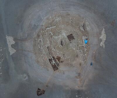 Suların çekilmesiyle ortaya çıktı!12 bin yıllık...