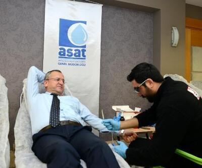 ASAT'tan Kızılay'a kan bağışı