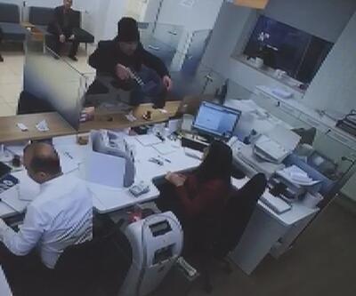 Avcılar'da banka soygunu kamerada