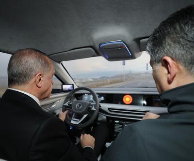 Son dakika: Yerli otomobilin ilk test sürüşü, Cumhurbaşkanı Erdoğan'dan