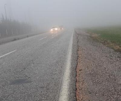 Kahta'da ulaşıma sis engeli