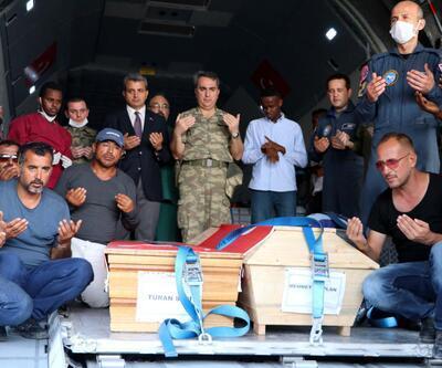 Somali'de hayatını kaybeden iki Türk vatandaşının cenazesi geldi