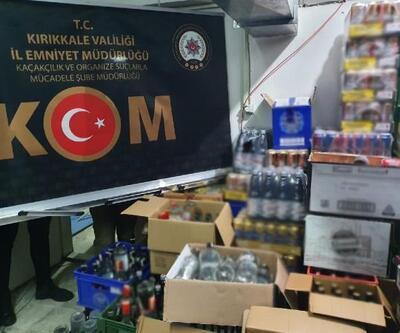 Kırıkkale'de 2 bin 351 şişe kaçak içki ele geçirildi