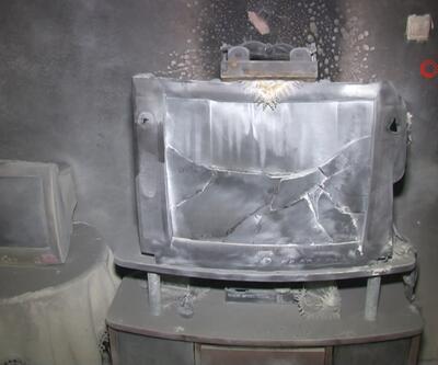 Tüplü televizyon patladı