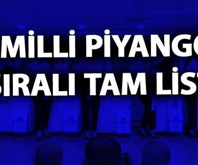 Milli Piyango sıralı tam liste… MPİ yılbaşı 2020 bilet sorgulama