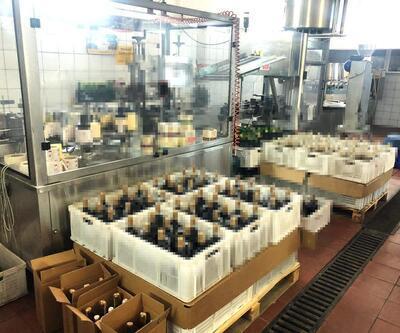 Tekirdağ'da 355 ton sahte şarap ele geçti, fabrika mühürlendi