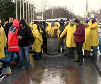 129 gündür İBB önünde işe dönmeyi bekliyorlar