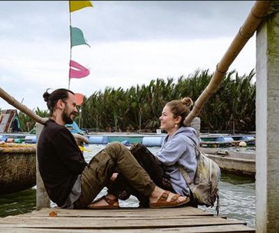 Burcu Biricik ve eşi Emre Yetkin Vietnam'da aşk tazeliyor