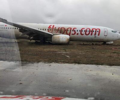 Pistten çıkan uçaktaki yolcuların tahliyesi amatör kameraya yansıdı