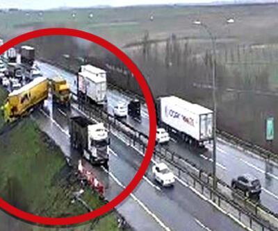TEM'de trafik kazası! Çalışmalar sürüyor... Son dakika haberleri