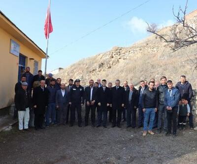 Kaymakam Sarı'dan köy ziyaretleri