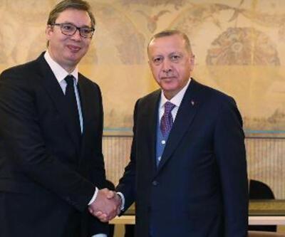 Cumhurbaşkanı Erdoğan Sırbistan Cumhurbaşkanı ile görüştü