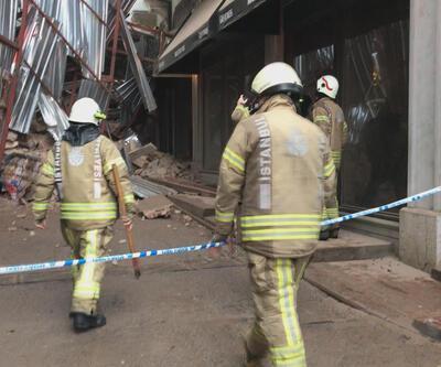 Tadilattaki bina çöktü